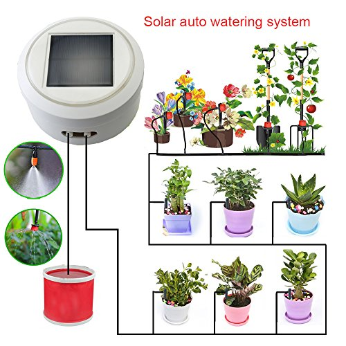 Solar Automatic Watering Flowers System with Smart Timer Irrigation on indoor herb growing systems, indoor plant arrangements, indoor hydroponic plant systems, indoor garden lights, indoor fort kits, indoor hydroponic growing systems,