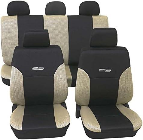 Wave Beige Schwarz16844 Schonbezug Sitzbezug Autoschonbezug Schonbezüge Für Dir Unten Angegebenen Fahrzeuge Auto