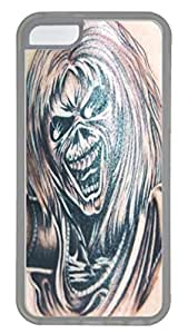 iPhone 5C Case and Cover VUTTOO Ironmaiden 4 PC case Cover for iPhone 5C ¡§C Transparent