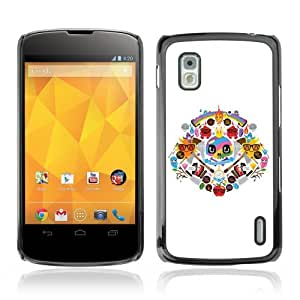 YOYOSHOP [Cool Colorful Tatto Signs] LG Google Nexus 4 Case
