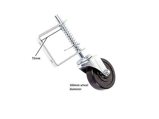 Ligero rueda para puerta con resorte, ruedas Coldene: Amazon.es ...