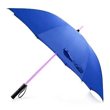 Vicloon Paraguas de Golf Paraguas Negro con LED de Luz de la Antorcha Sable de Luz
