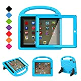 BMOUO Kids Case for iPad 2 3 4 with Built-in Screen Protector - Shockproof Convertible Handle Stand Friendly Kids Case Cover for Apple iPad 2nd 3rd 4th Generation - Blue