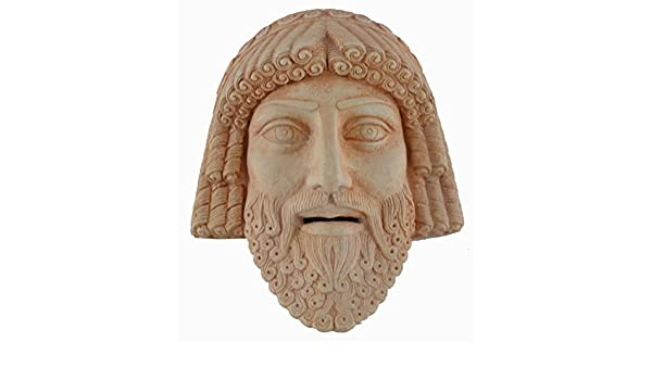 Zeus pequeña máscara - Teatro griego de la Antigüedad - rey de los dioses del Olimpo: Amazon.es: Hogar