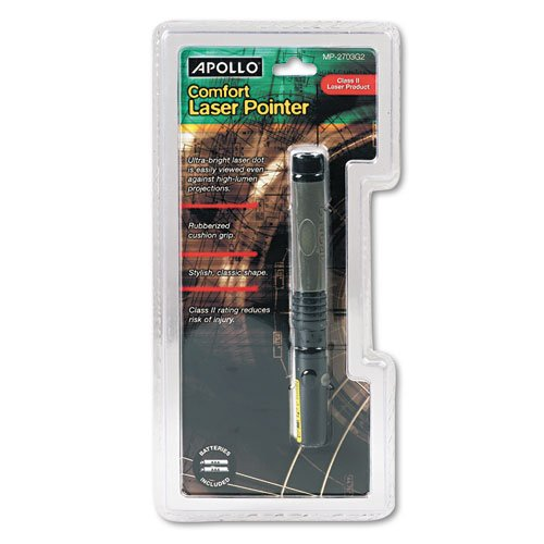Quartet Class Two Classic Comfort Laser Pointer, Projects 150 Yards, Graphite Gray