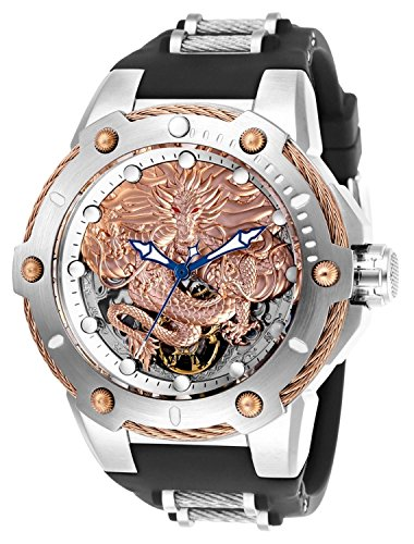 Invicta Men's 26317 Bolt Mechanical 3 Hand Rose Gold, Silver Dial (Invicta Mens Silver Dial)