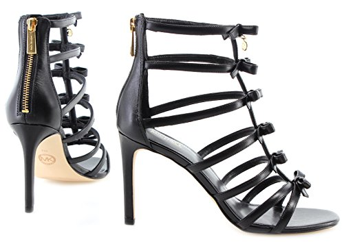 Zapatos 40S8VRHA1L Sandal Michael Mujeres De Leather Black Tacon Veronica Kors 65wqZfxqp