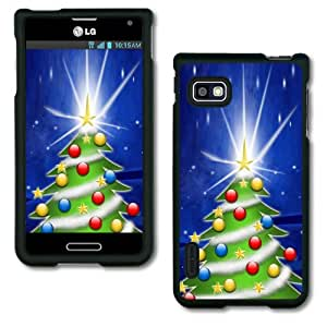 Christmas Holiday Design Collection Hard Phone Cover Case Protector For LG Optimus F3 MS659 LS720 8143