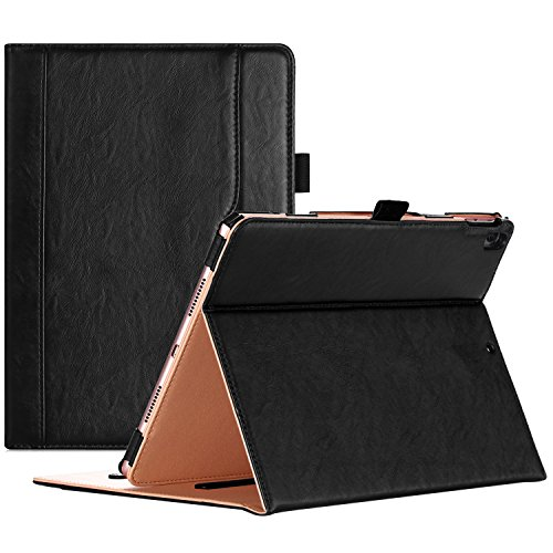 ProCase iPad Pro 10.5 Case - Vintage Stand Folio Case Cover for Apple iPad Pro 10.5 Inch 2017, Multiple Viewing Angles, with Apple Pencil Holder -Black