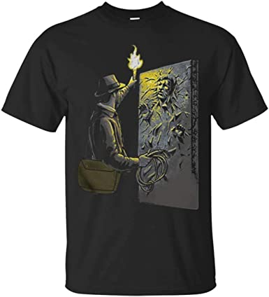Camiseta de Moda para Hombre de Indiana Jones Han Solo Carbonite: Amazon.es: Ropa y accesorios