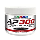 AP300 Aircraft Metal Polish (1lb) - Medium - for Airplane Aluminum & Bare Metal Surfaces, Brightwork, Leading Edges - Meets Requirements of Boeing and Airbus - Minimal Sling - Low Odor