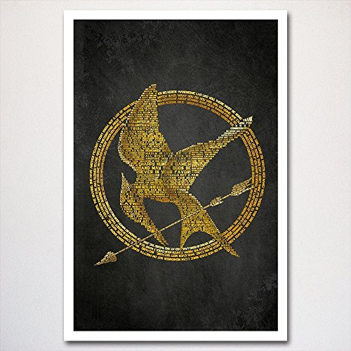 Hunger Games word art poster