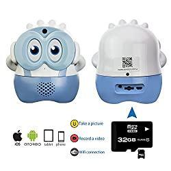 Baby Watch & Nanny Watch. Encore, KUBY Cam Baby Surveillance IP Camera. Build-in Battery. Support Two Way Audio. Motion Sensor. (Blue)