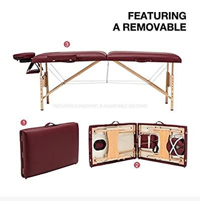 "84"" L Fold Portable Massage Table Facial SPA Beauty Bed Tattoo W/Free Carry Case"