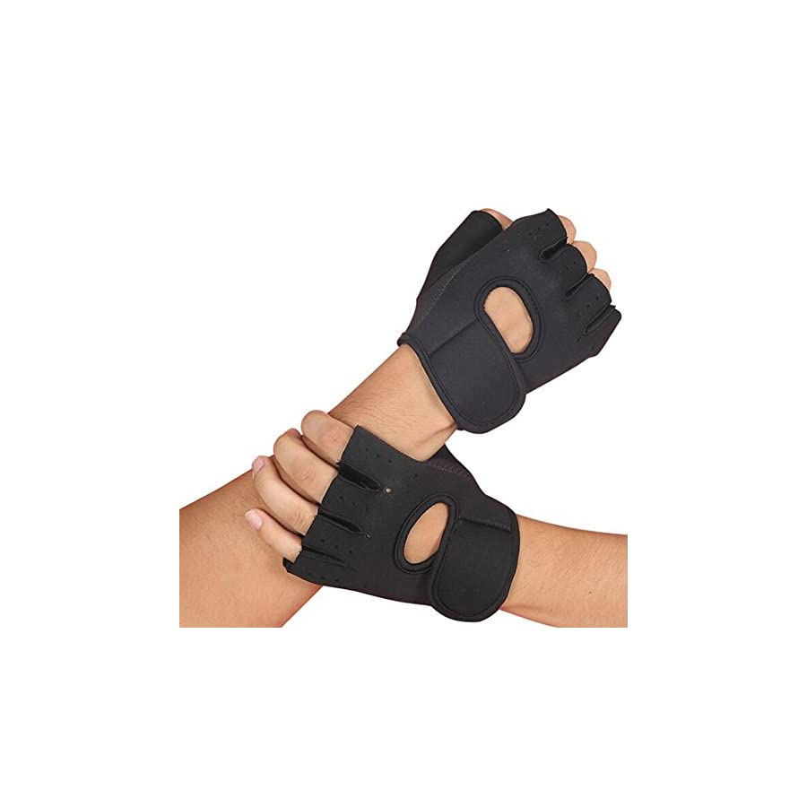 NOQ Sports Fitness Gloves/Half Finger Protecting Palm/Dumbbells/Weights/Anti Slip/Tug Of War/Rowing/Riding/Mountaineering/Men's Women's Protective Gear