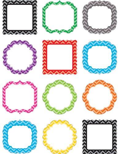 Teacher Created Resources 5525 Chevron Frame Mini Accents (School Door Decorations)