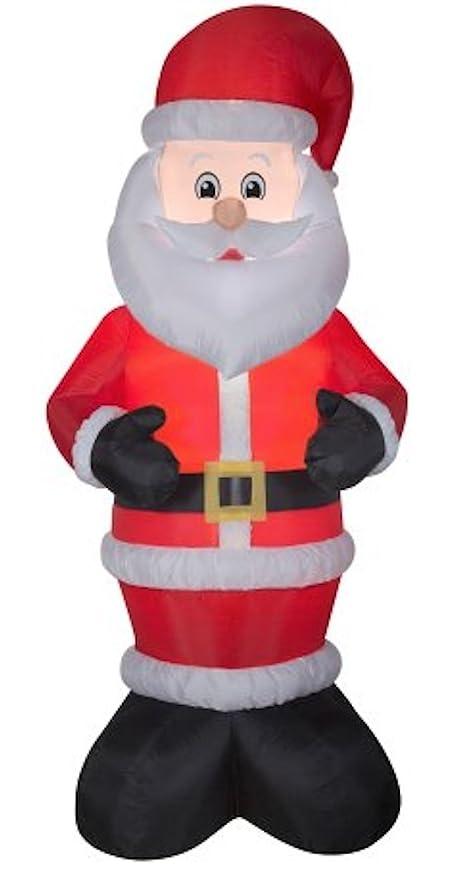 Holiday Time Gemmy - Figura Hinchable de Papá Noel en Traje ...