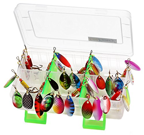LotFancy Fishing Spinnerbait Walleye Assorted
