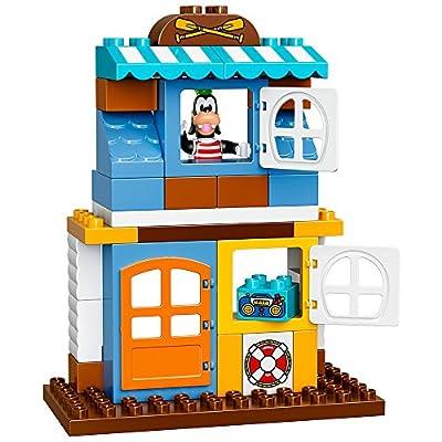 LEGO DUPLO Disney Junior Mickey & Friends Beach House, Preschool, Pre-Kindergarten Large Building Block Toys for Toddlers: Toys & Games