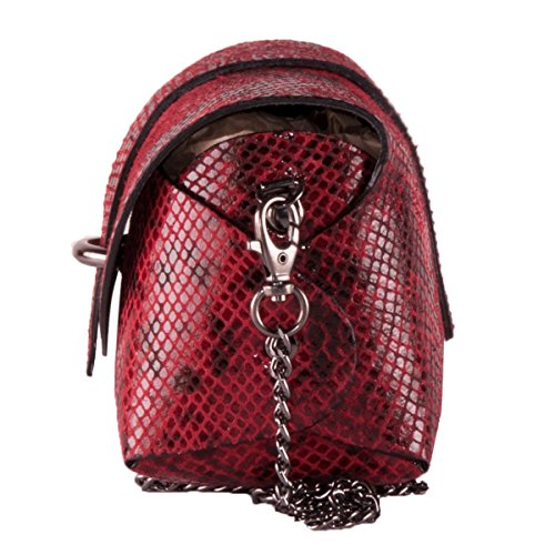 P Evelina Bolsa Edition Bag Genuino Limited Genuine Borderline Cuero Borderline Evelina Leather Clutch Bordeaux Del Edition Burdeos Embrague P Limited 5n0qnxFZa