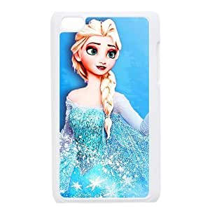 Frozen Elsa Snow Queen Hard Case Cover Skin for iPod Touch 4 4G 4th Generation- 1 Pack - Black/White - 5