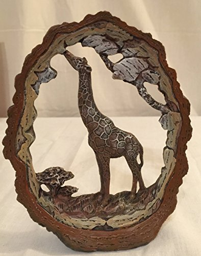 GIRAFFE STATUE DECORATION WILDLIFE COLLECTIBLE SAFARI FRAME 7