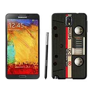 Armor Protective Case for Galaxy Note 3 Case,Samsung Galaxy Note 3 Protective S View Coer Protective Case Audio Cassette Samsung Galaxy Note 3 Case Black Cover 3
