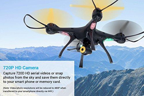 51 %2BFVIlKVL - Tenergy Syma X8SW Wi-Fi FPV Quadcopter Drone 720P HD Camera Altitude Hold RC 2.4G 4CH 6 Axis, Black/Yellow