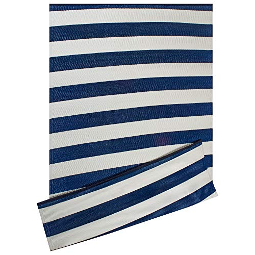 Compare Price Blue Stripe Outdoor Rug On Statementsltd Com
