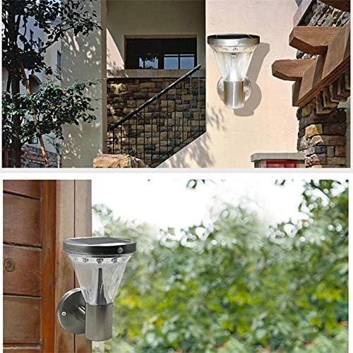 Lampada da parete solare Lampada da parete per esterni a LED da giardino a induzione umana da giardino in acciaio inossidabile super luminoso 1PZ
