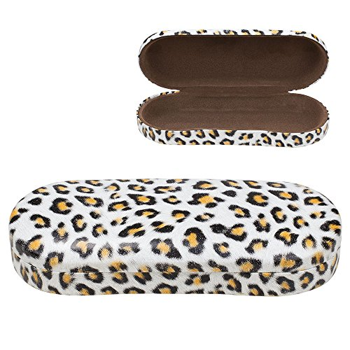 Hard Clamshell Eyeglass Case, Leopard Print Protective Glasses and Sunglasses Holder - For Kids & Adults, Men & Women - Brown - by - Cool Case Glasses