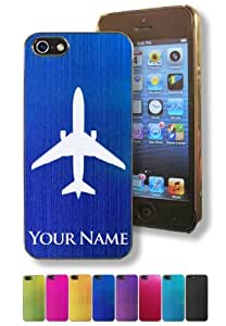 Apple Iphone 5/5S Case/Cover - JET AIRPLANE, AIRCRAFT - Personalized for FREE (Click the CONTACT SELLER button after purchase and send a message with your case color and engraving request)