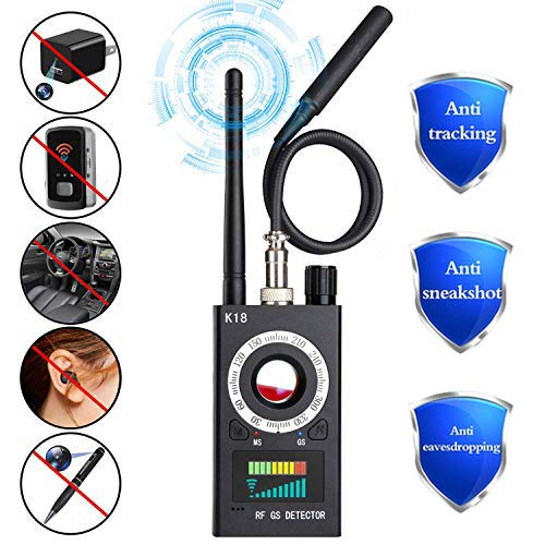 Anti Spy RF Signal Detector, Wireless Hidden Camera Bug Detector Laser Lens GSM Audio Device Finder Radar Radio Scanner Wireless Signal Alarm