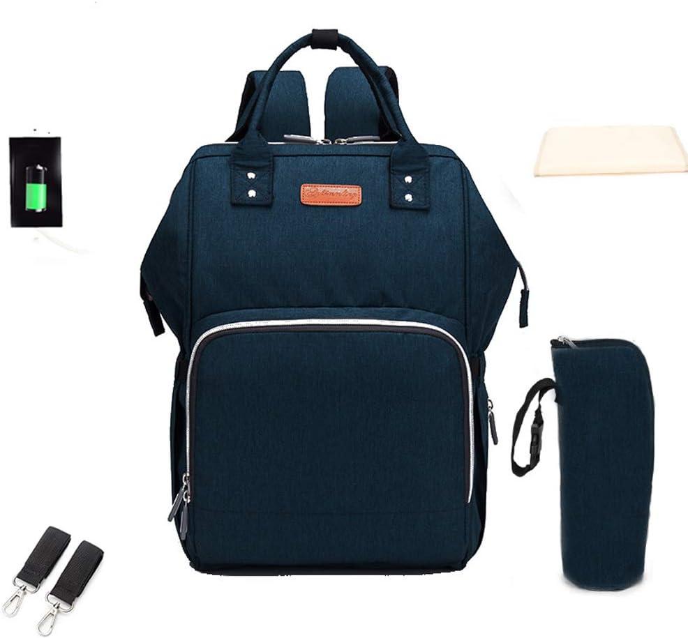 Mochilas para Pa/ñales Gran Capacidad Impermeable Mochila de Beb/é Multifuncional Bolso con USB Puerto A-Negro