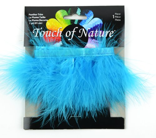 Touch of Nature 40515 Fluffy Trim 36-Inch, Turquoise