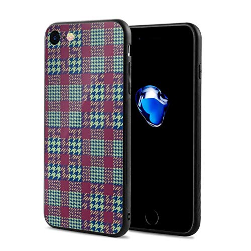 EasyUsiie Houndstooth-Pattern iPhone 7/8 Case Anti Drop 4.7''iPhone Cases