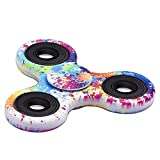 Zip Spinners- Fidget Spinner Toy with Ultra Speed Deep Groove Bearings- Autism Toys Best Boredom Reducer Stress Toy Hand Spinner Fidget Toy for Kids & Adults (Water Paint)
