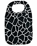 Chic & Slinky Black/White Giraffe Print Adult Bib Clothing Protector