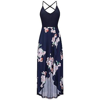 KPILP - Vestido Sexy para Mujer, para Primavera, Verano, sin ...