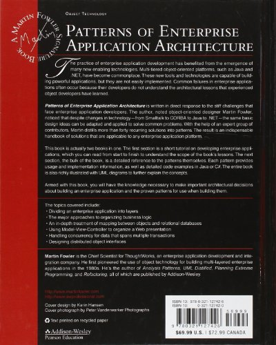 Patterns Of Enterprise Application Architecture Import It All Extraordinary Patterns Of Enterprise Application Architecture