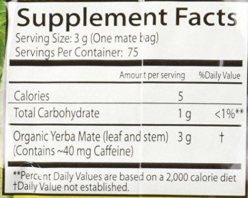 Guayaki Traditional Yerba Mate, 75 Tea Bags 7.9oz (Pack of 2) 2 Item Package Length: 7.112cm Item Package Width: 9.652cm Item Package Height: 31.496cm