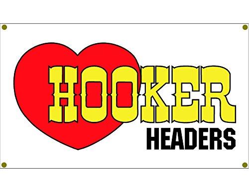 Signs By Woody Hooker Header Garage Banner Man Cave Banner Hot Rod Rat Rod NHRA