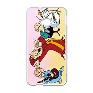 HTC One M7 Shell Phone Case for Classic Theme Alvin and the chipmunks comic Cartoon pattern design GAATC191137