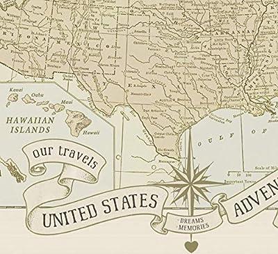 USA Push Pin Travel Map Dreams & Memories By Wendy Gold