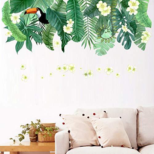 TANOSAN – Adhesivo decorativo para pared, diseño de plantas verdes y hojas frescas, para decoración de dormitorio, sala…