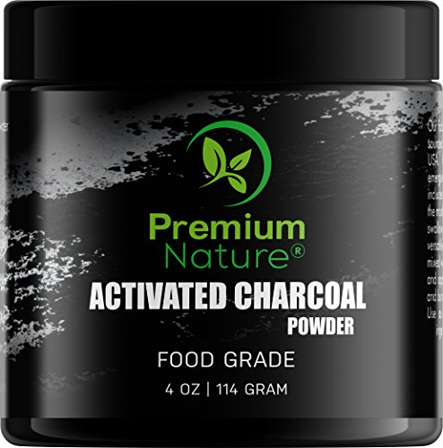 Activated Charcoal Teeth Whitening Powder - All Natural Black Charcol Teeth Whitening Toothpaste Dental Powder Safe & Gentle for Gums & Sensitive Teeth Brighter Smile Tooth Whitener 4 oz