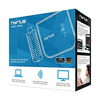 Nyrius Aries Prime Wireless Video Hdmi Transmitter & Receiver For Streaming Hd 1080p 3d Video & Digital Audio From Laptop, Pc, Cable, Netflix, Youtube, Ps4, Xbox One To Hdtvprojector (Npcs549) 3