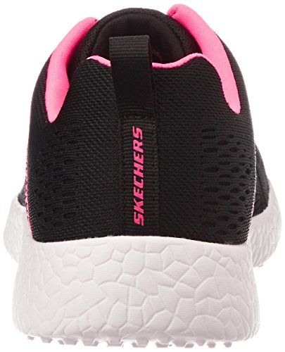 Skechers Sport Dames Burst Fashion Sneaker Zwart / Roze