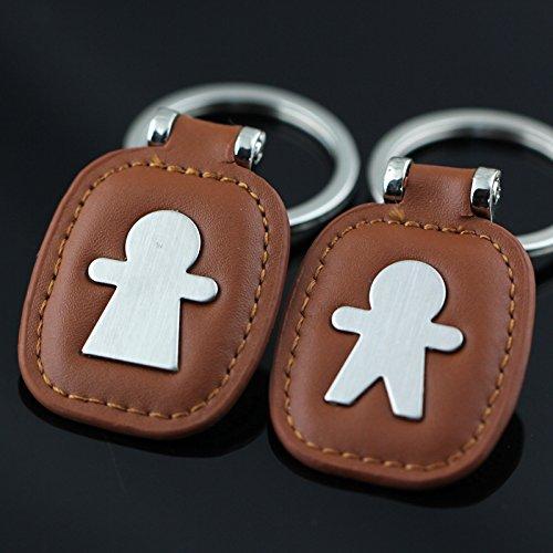 3560e2112409f Maycom Creative Fashion Leather Couple Keychain Key Chain Ring Keyring Key  Fob Key   Lock 83513 (Silver). by Maycom. Color  Key   Lock Silver