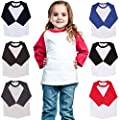 Kids Raglan T Shirts 3/4 Baseball Sleeves Baby